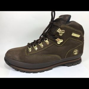 Timberland Brown & Gold Work Boots Sz 12M Suede